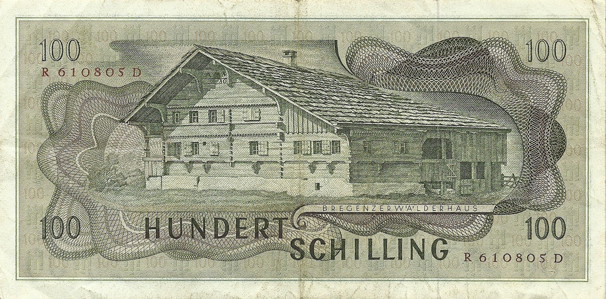 100 Schilling 1969. First issue
