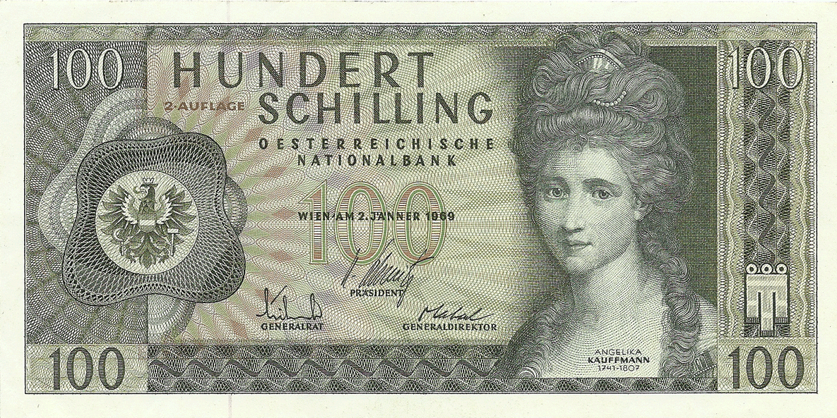 100 Schilling 1969. Second issue