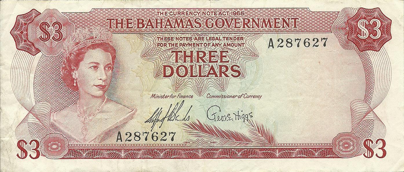 description of 3 dollars 1965