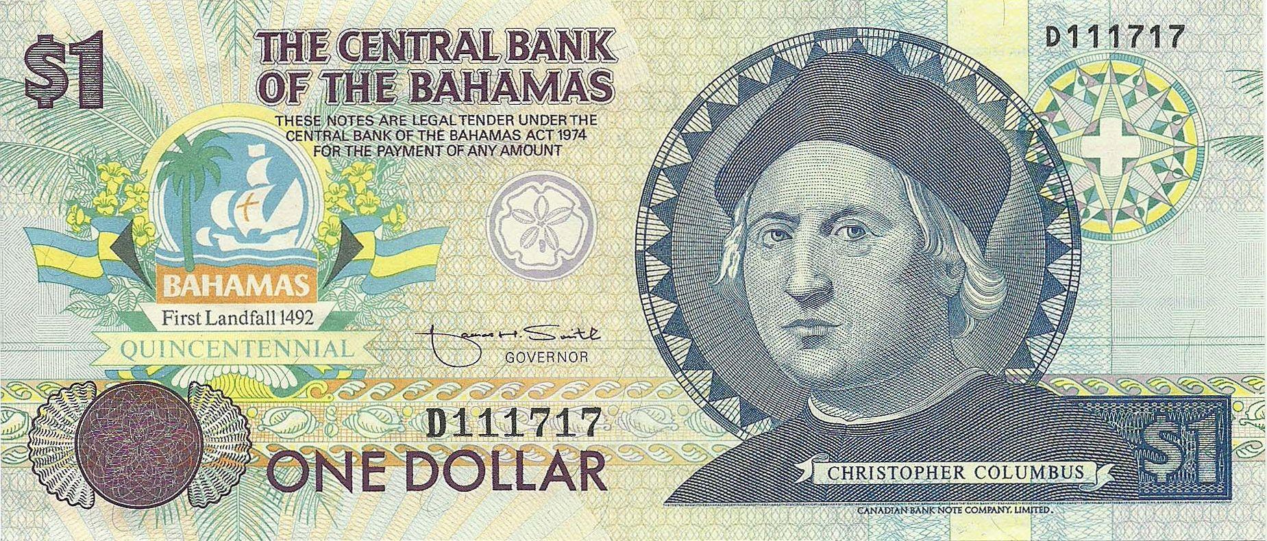 Description Of 1 Dollar 1992