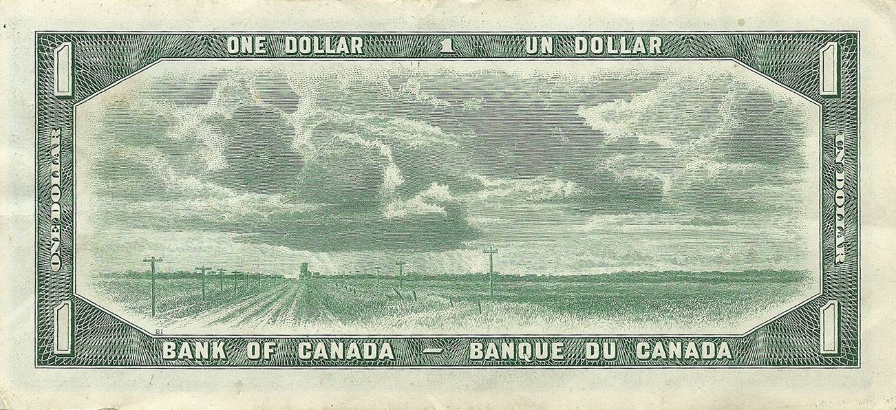 1 Dollar 1954. Devils face