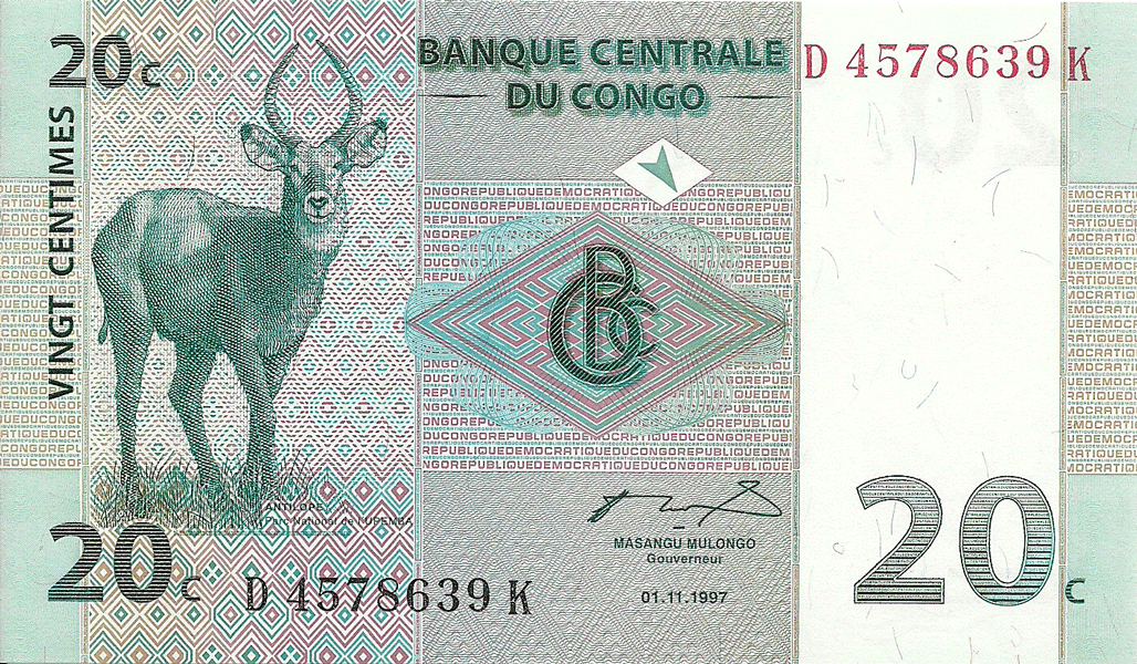 20 Centimes 1997