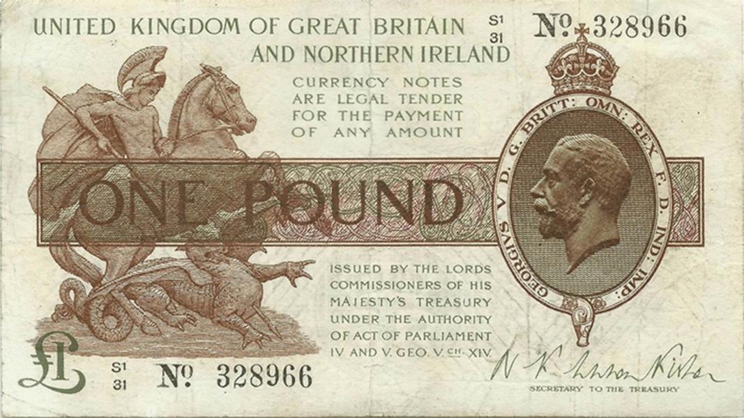 Святой георгий на фунте стерлингов сколько стоит 5злотых 1994 года