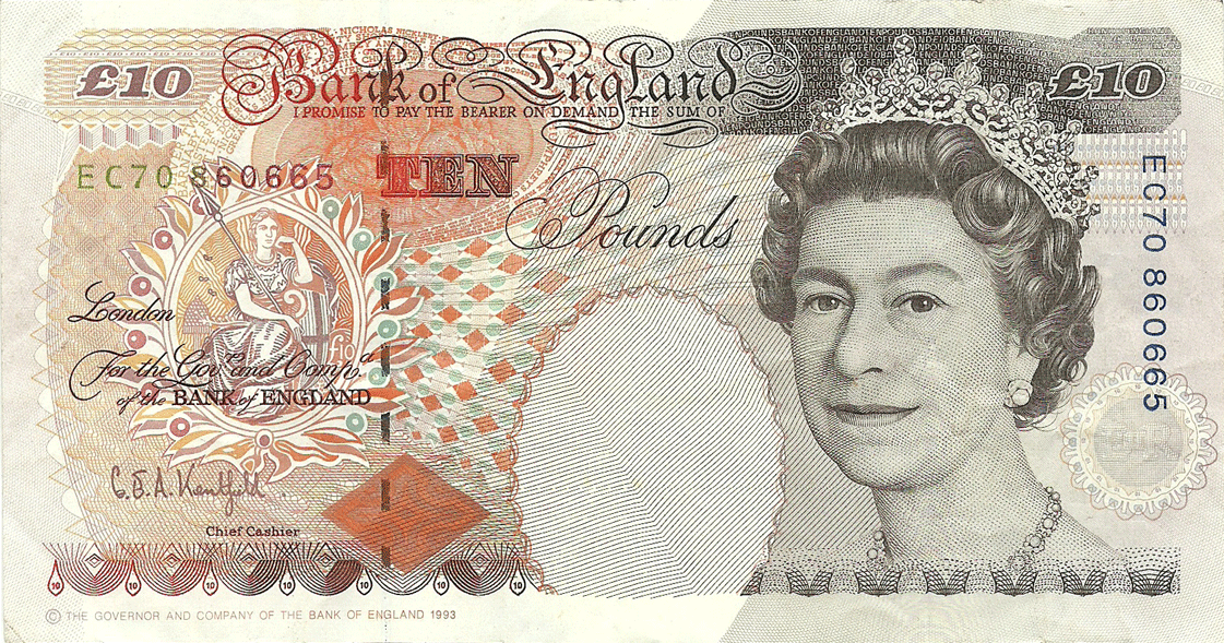 10 Pounds Sterling 1993