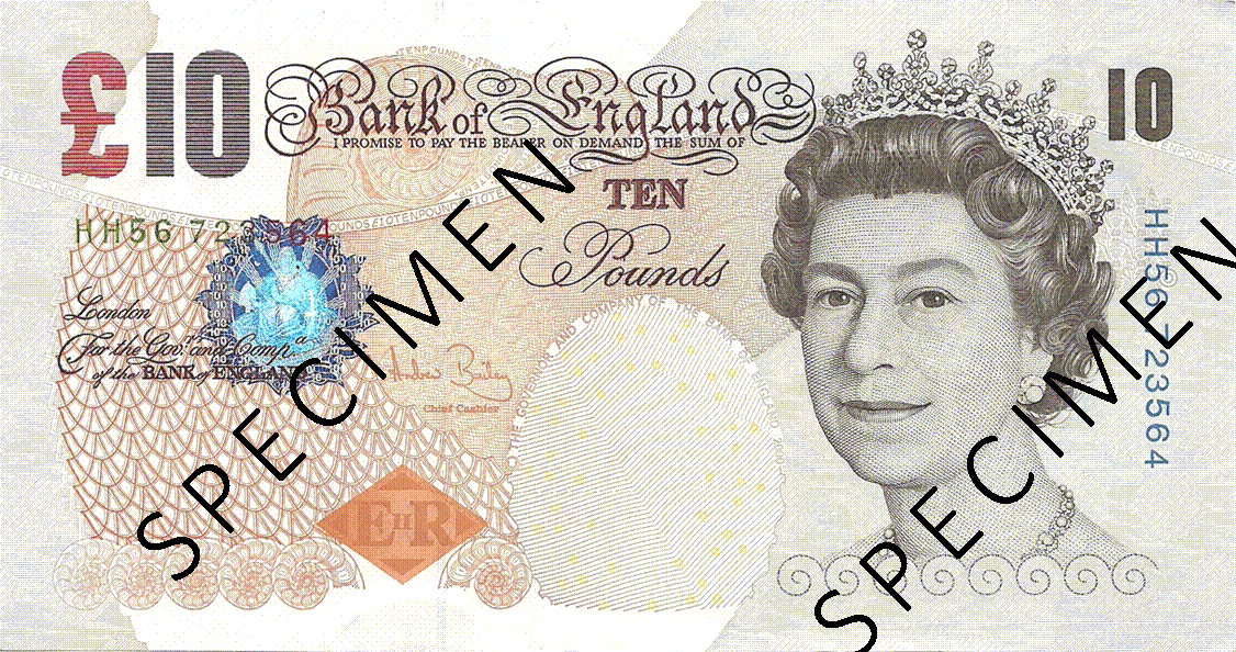 10 Pounds Sterling 2004