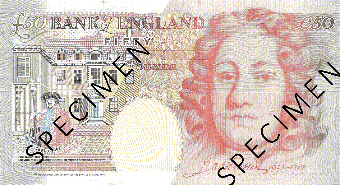 50 Pounds Sterling 2007