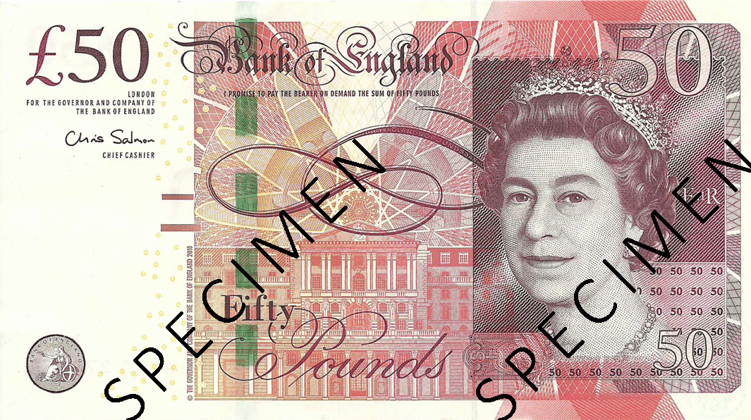 50 Pounds Sterling 2011