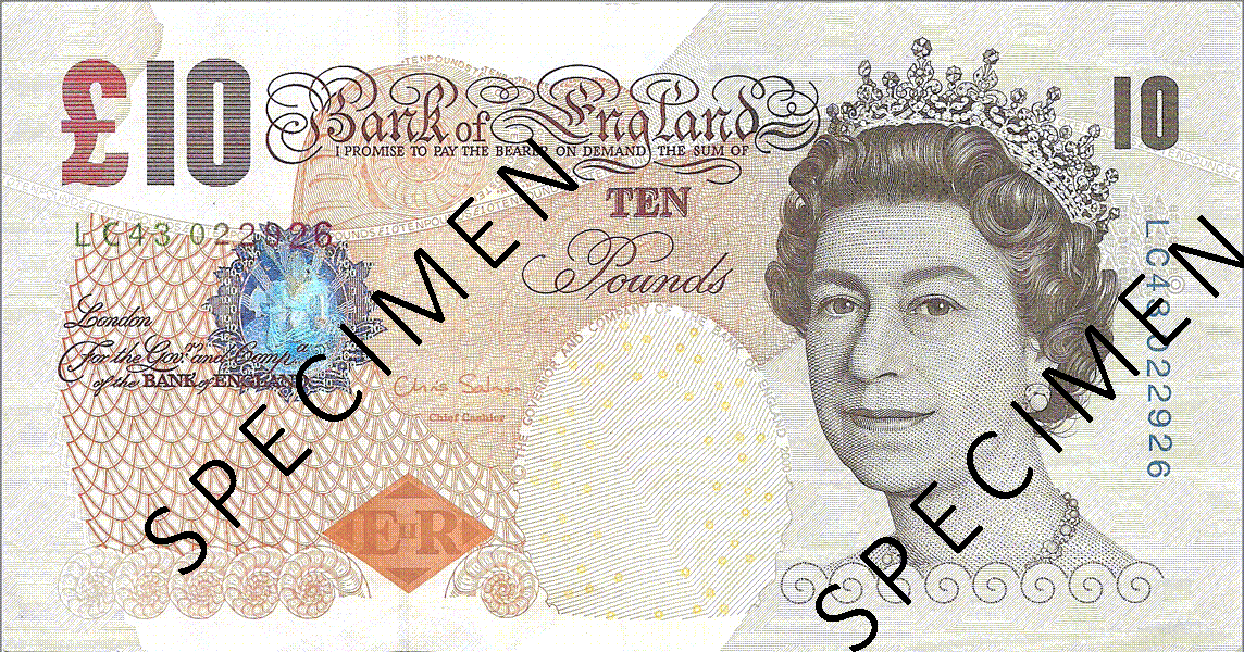 10 Pounds Sterling 2011