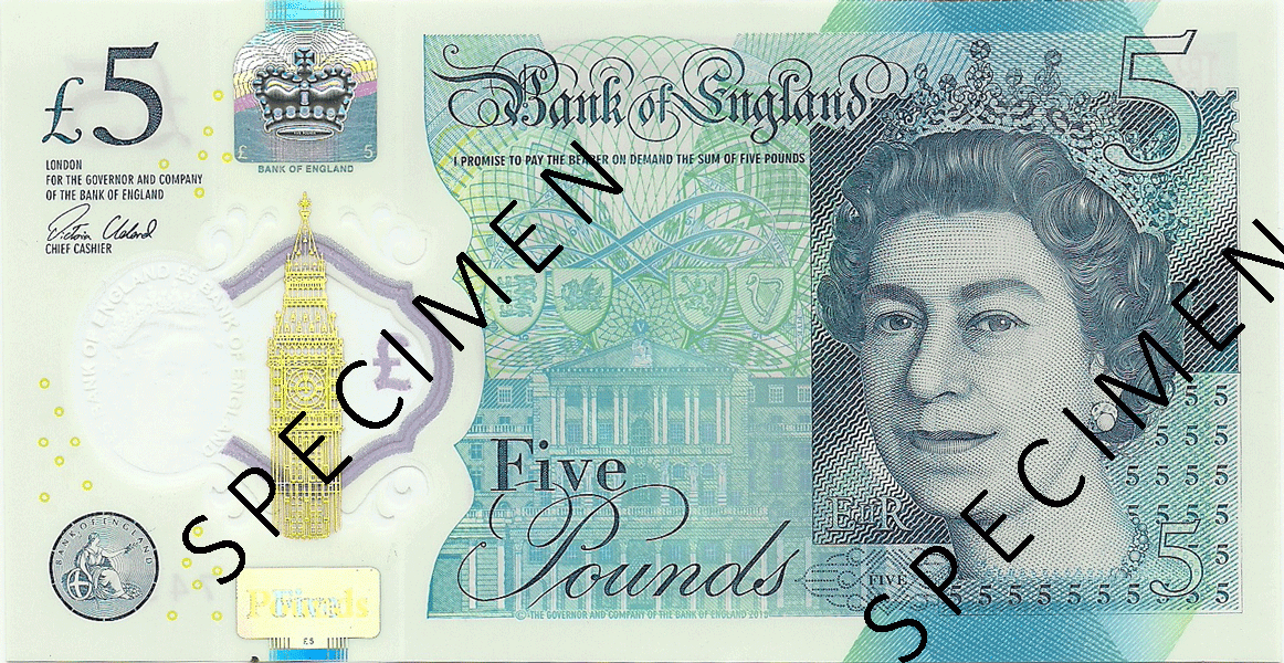5 Pounds Sterling 2016