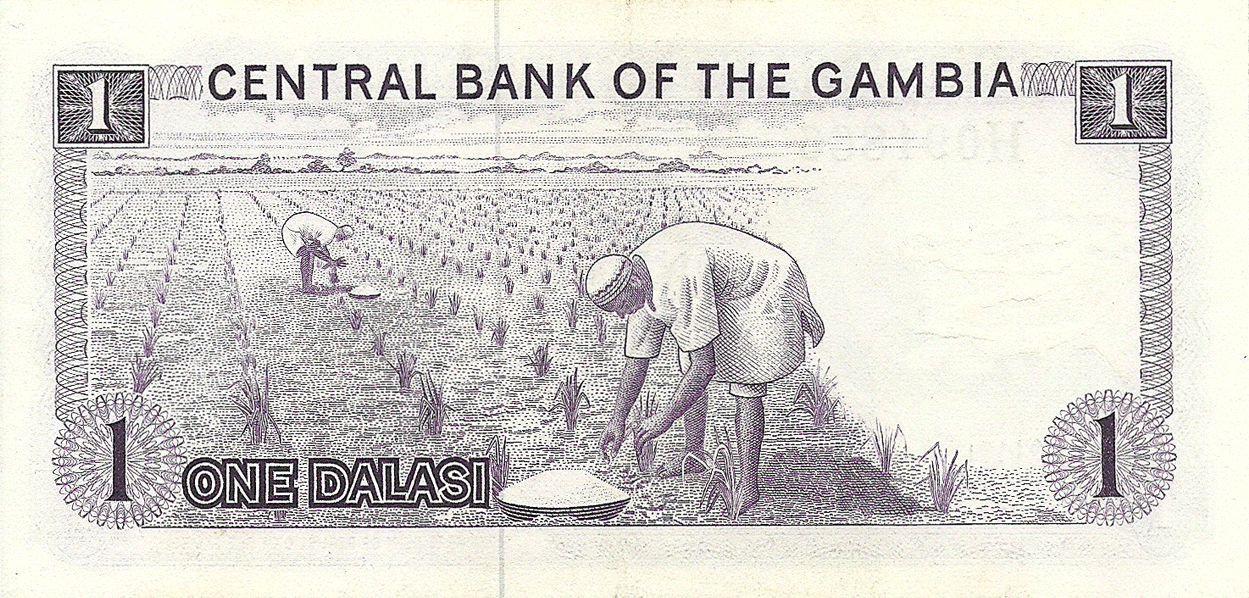 Description of 1 Dalasi 1977