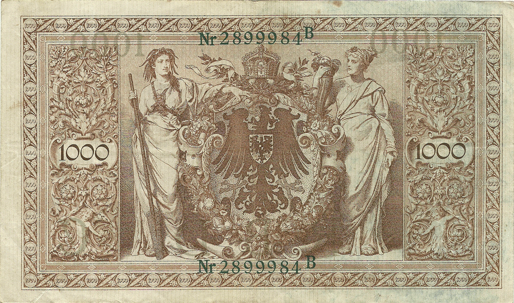 1000 Mark 1919. IV Issue. Series II. Letter C