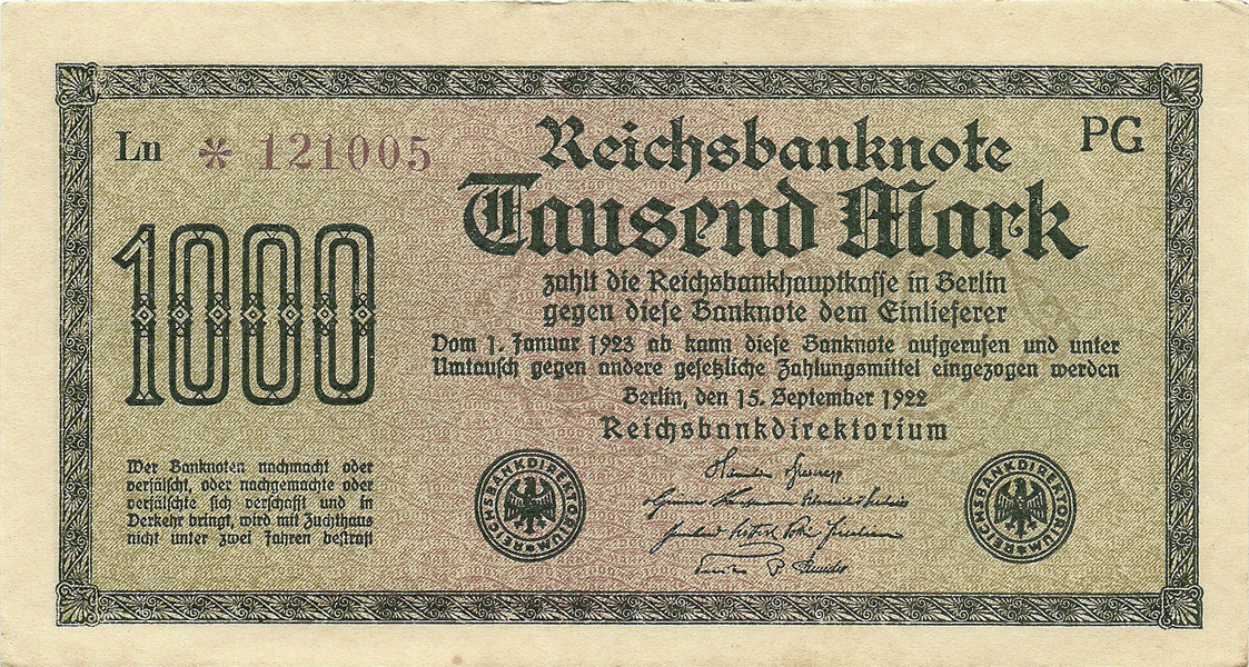 1000 Mark 1923. Fifth Issue