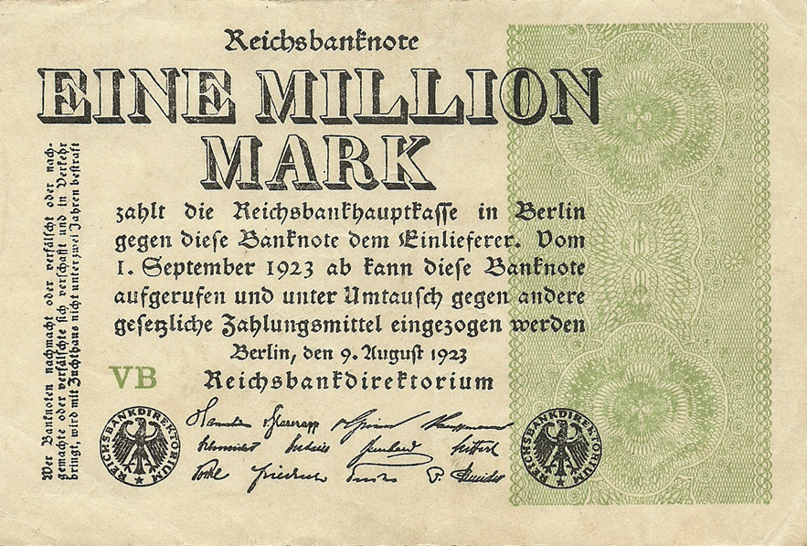 1000000 Mark 1923. Fifth Issue