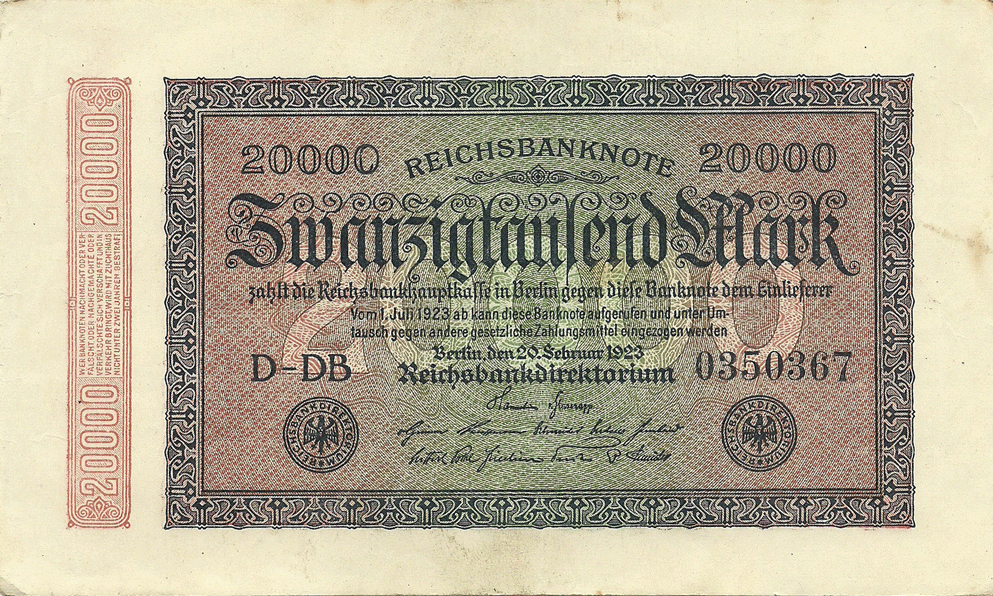 20000 Mark 1923. Second Issue