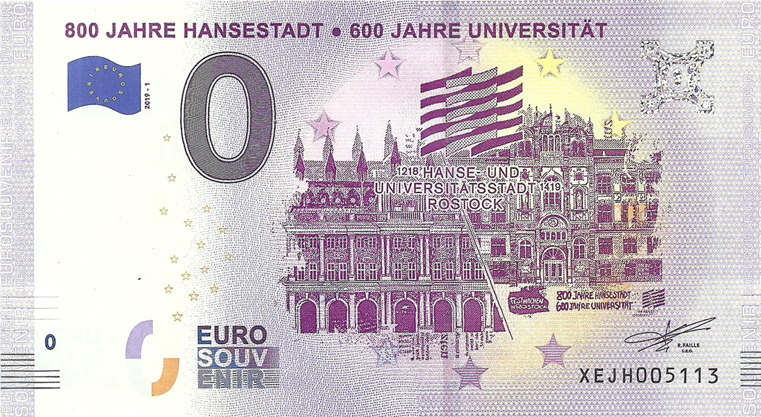 0 Euro 2018. 800 years to the Hanseatic city and 600 years to the University of Rostock