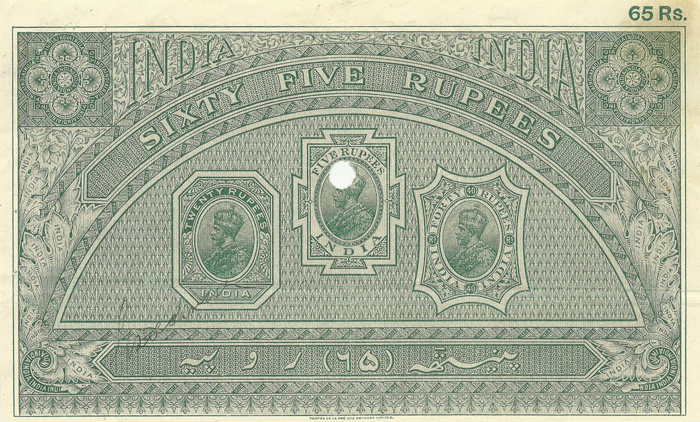 65 Rupees 1925
