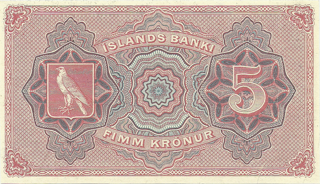 5 Kronur 1920. Remainder