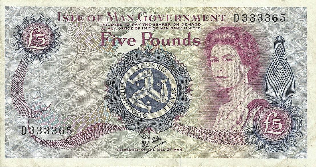5 Pounds Sterling 1987