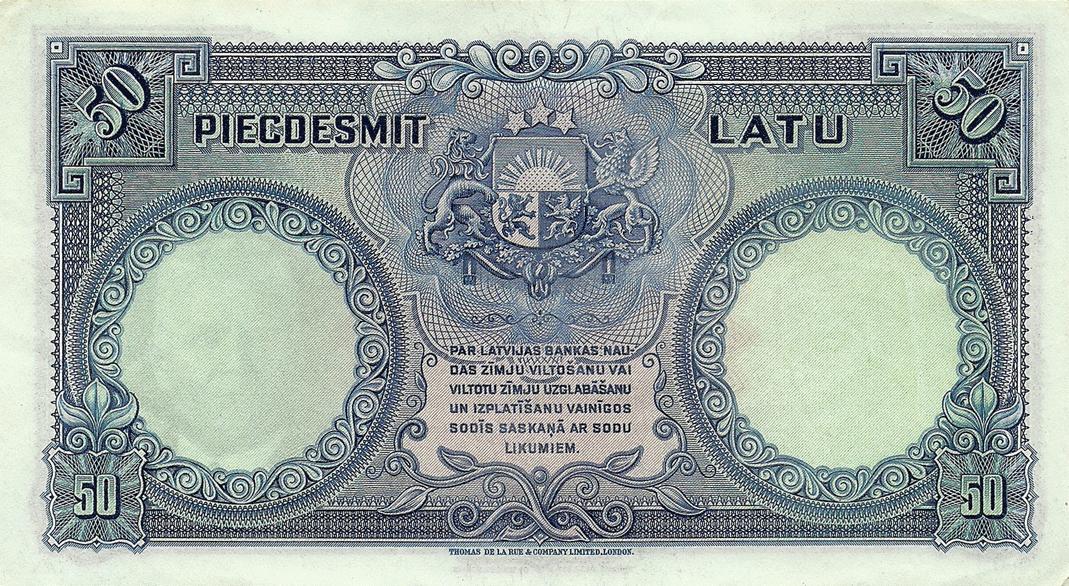 Description Of 50 Latu 1934