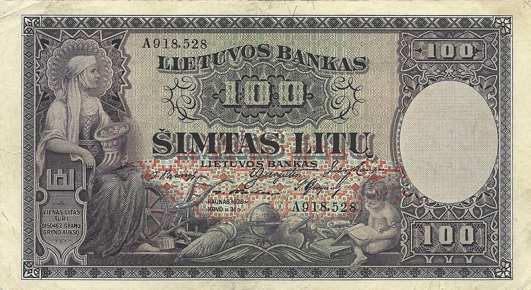 Description Of 100 Lit 1928