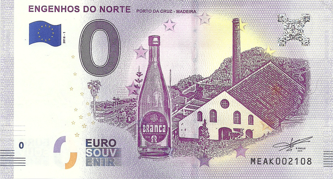 0 Euro 2018. Museum-factory for the production of rum in Madeira