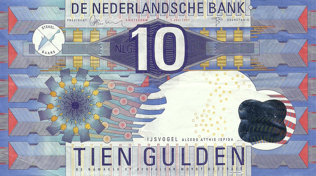 10 Gulden 1997. Ijsvogel (The Common kingfisher)