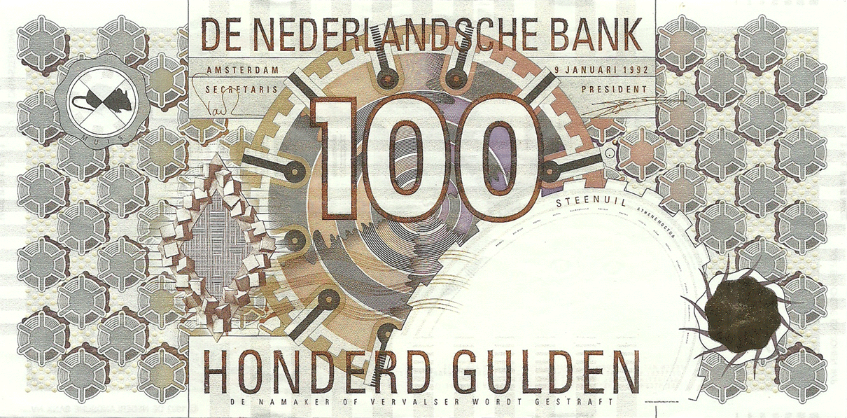 100 Gulden 1992. Steenuil (The little owl)