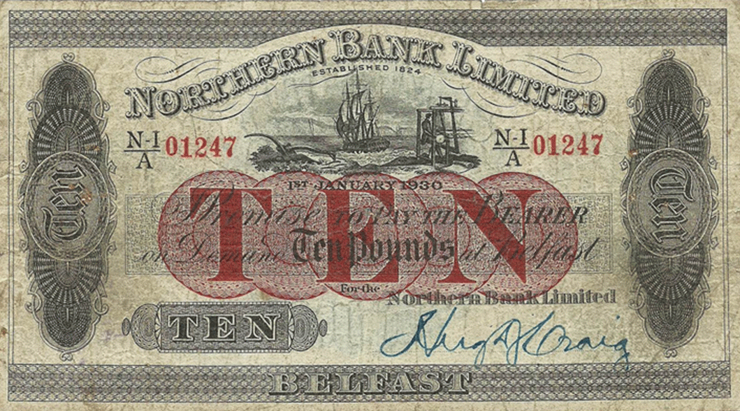 10 Pounds Sterling 1930
