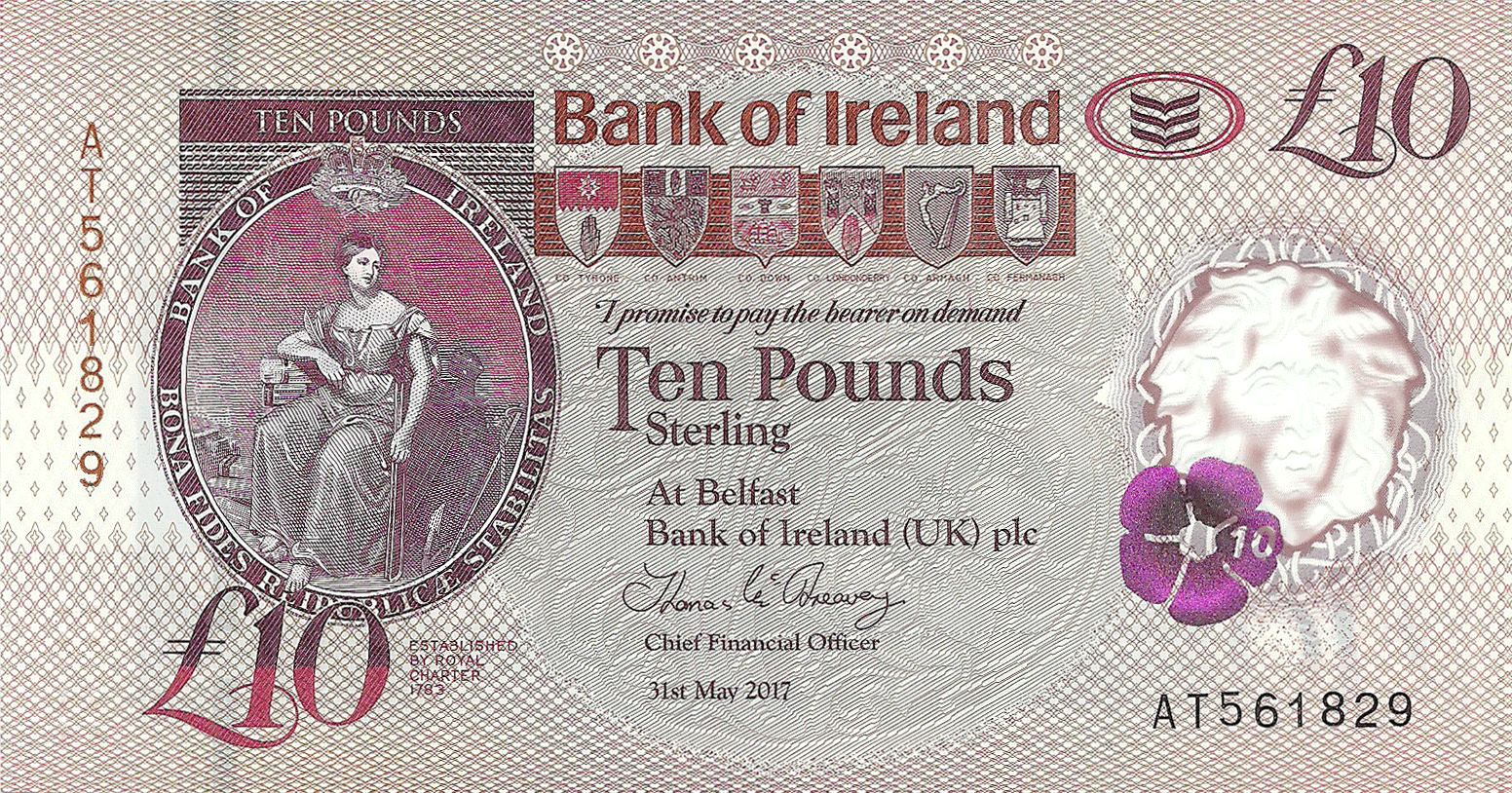 10 Pounds Sterling 2017