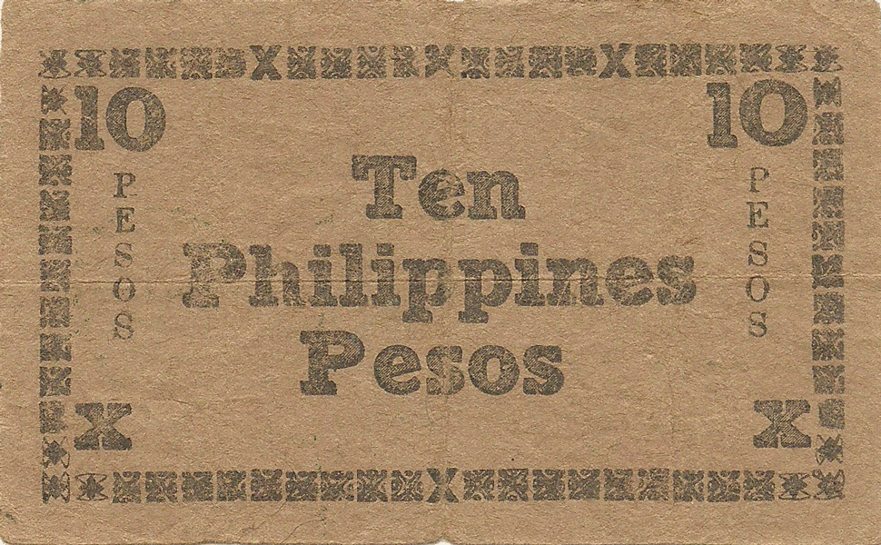 10 Pesos 1944. Negros Emergency currency board