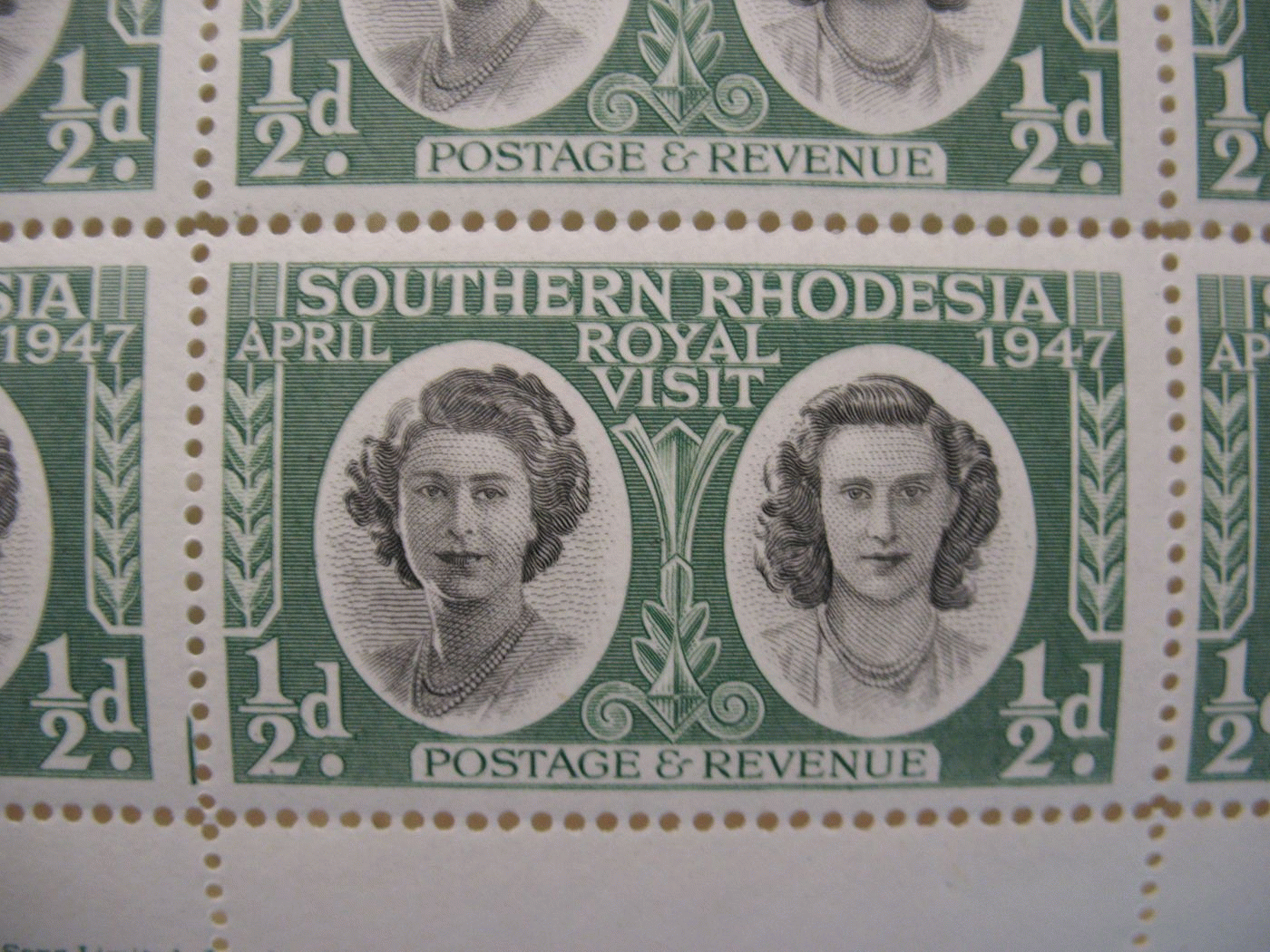 Stamps - Royal visit, 1947
