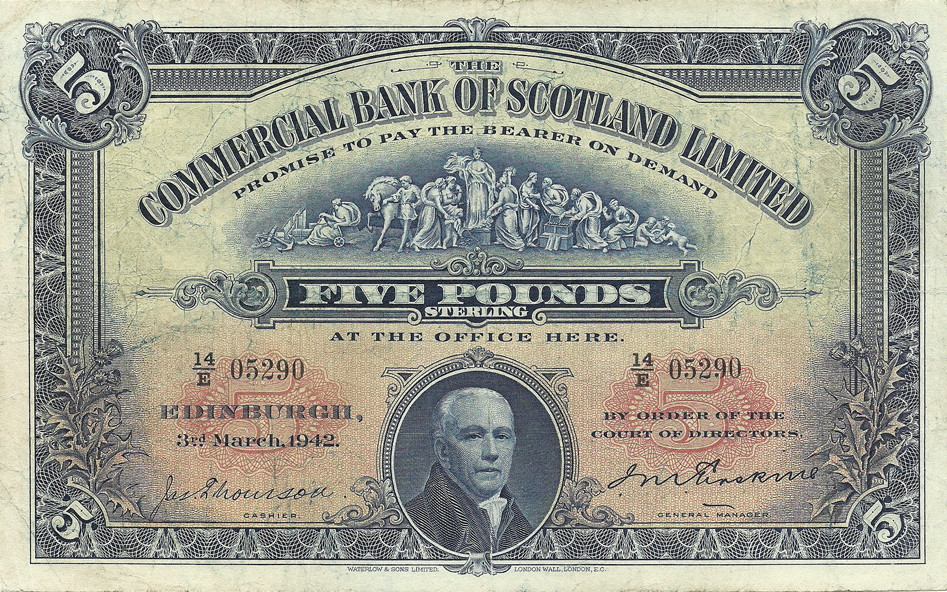 5 Pounds Sterling 1942
