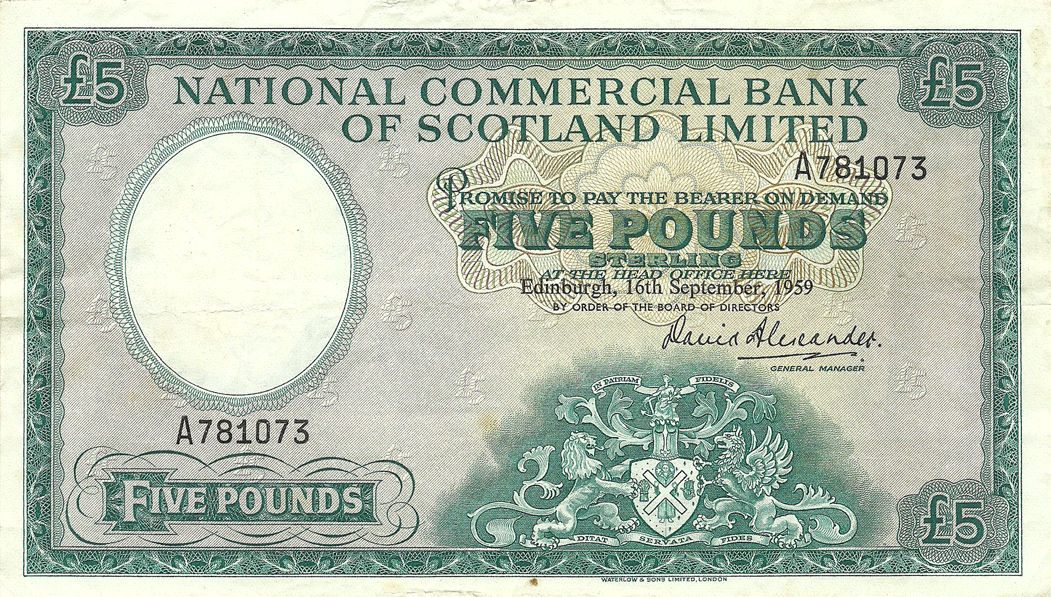 5 Pounds Sterling 1959