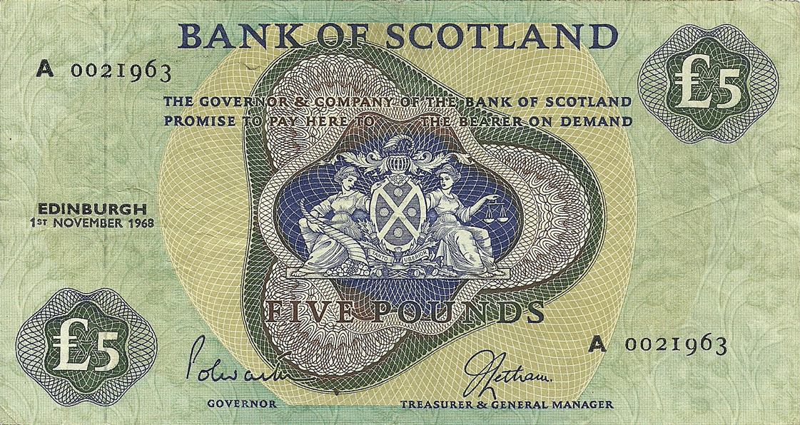 5 Pounds Sterling 1968