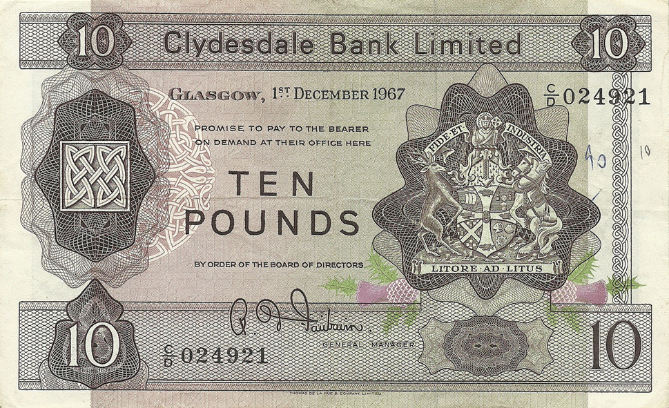 10 Pounds Sterling 1967