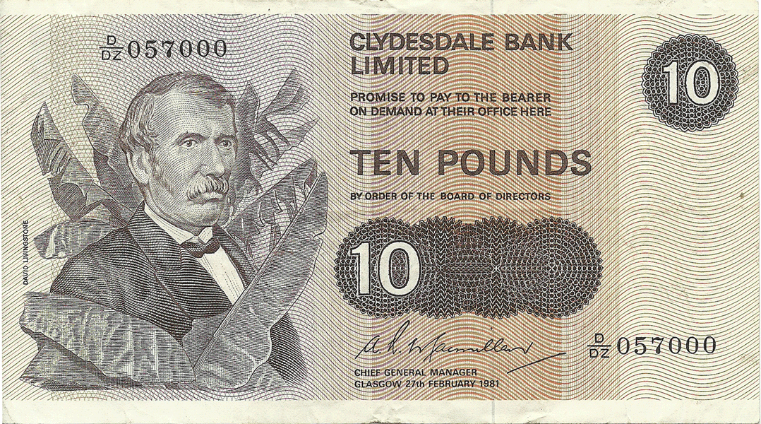 10 Pounds Sterling 1981