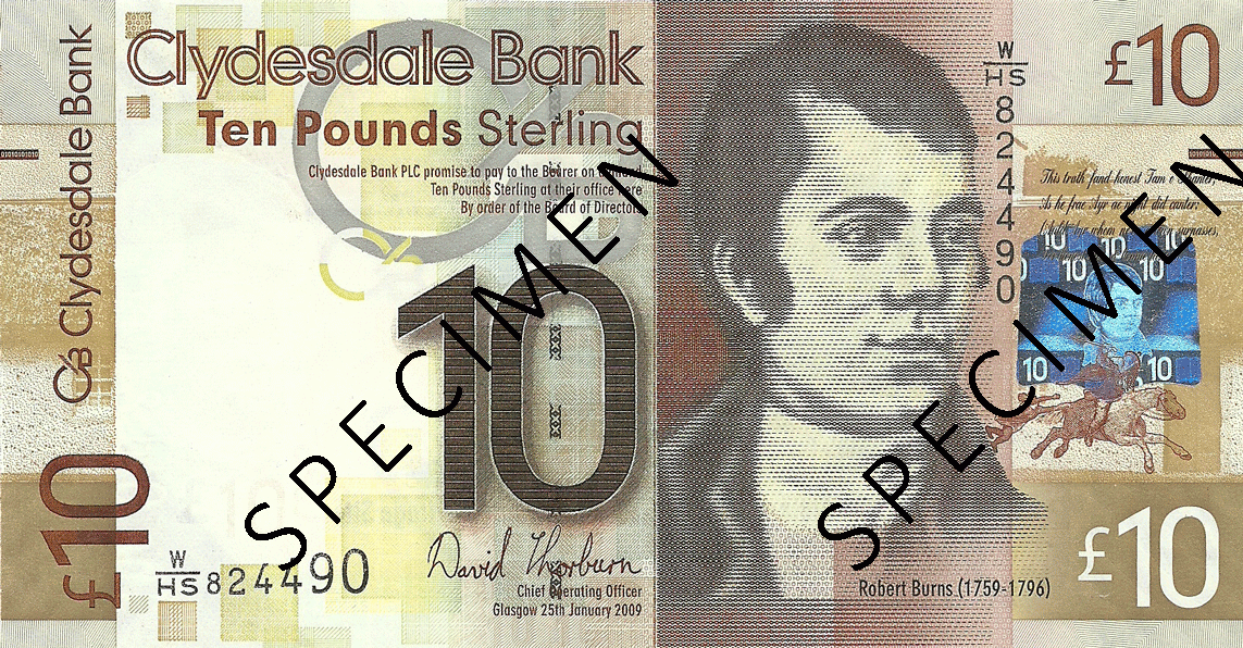 10 Pounds Sterling 2009. World Heritage Site