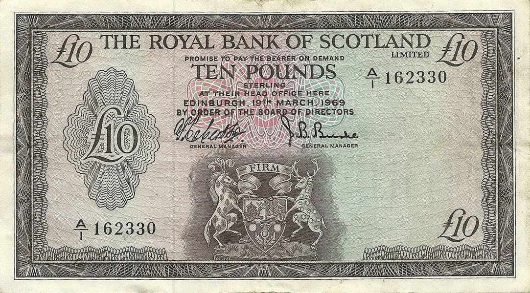 10 Pounds Sterling 1969