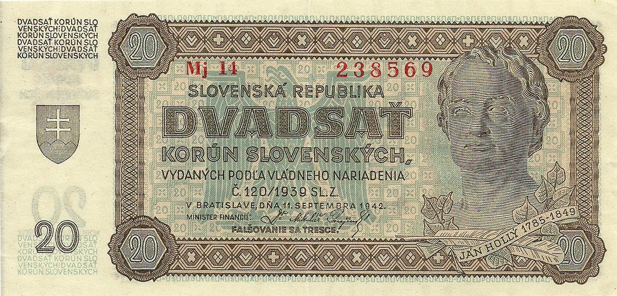 Description of 20 Korun 1942