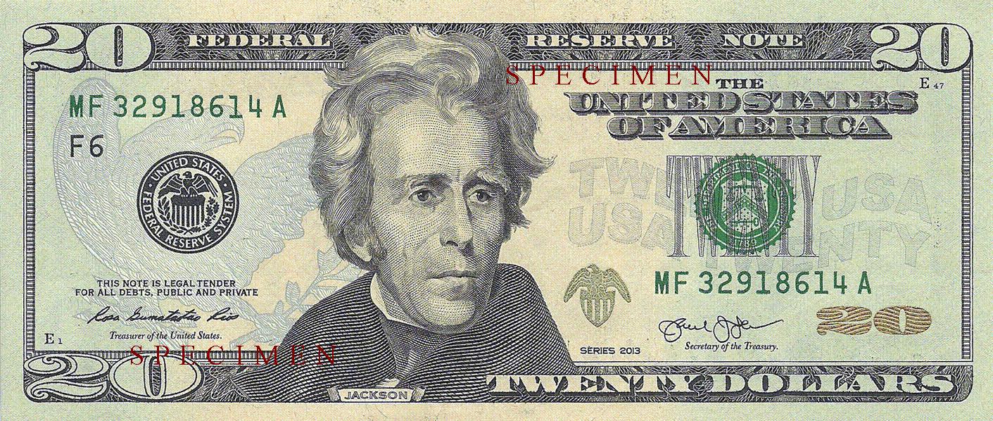 Description of 20 Dollars 2013