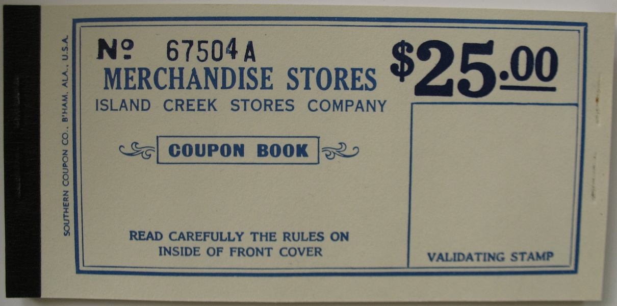 Coupon book for 25 Dollars 1915