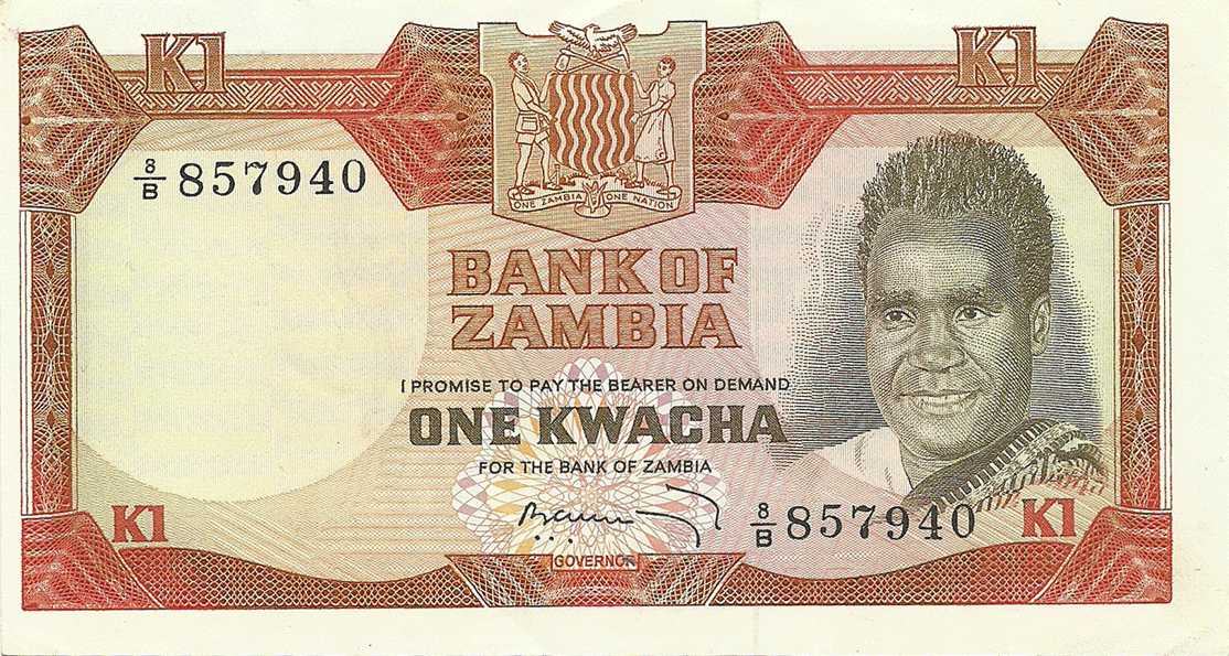 1 Kwacha 1973. Birth of the Second Republic, 13.12.1972
