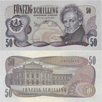 50 Schilling 1970. Second issue