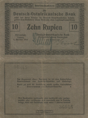10 Rupees 1915