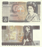 10 Pounds Sterling 1988
