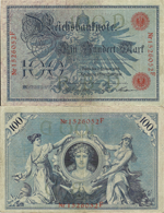 100 Mark 1908. IV Issue. Series I. Letter D