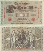 1000 Mark 1919. IV Issue. Series I. Letter S