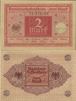 2 Mark 1920. Second Issue