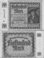 5000 Mark 1922. Third Issue. Series I