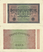 20000 Mark 1923. First Issue